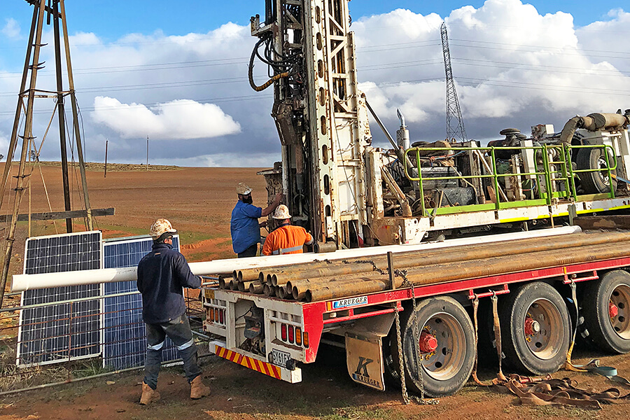 Water Bore Drilling with Rig 1